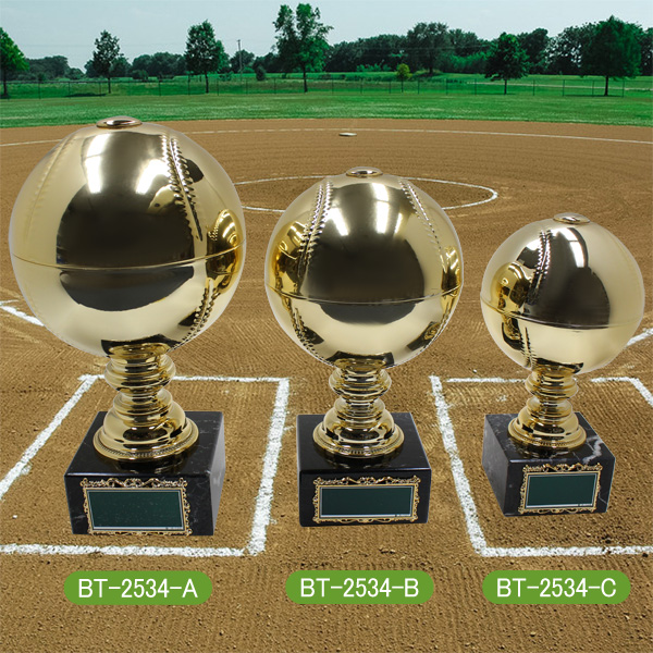 画像1: 野球ボールトロフィー:BT-2534 (1)